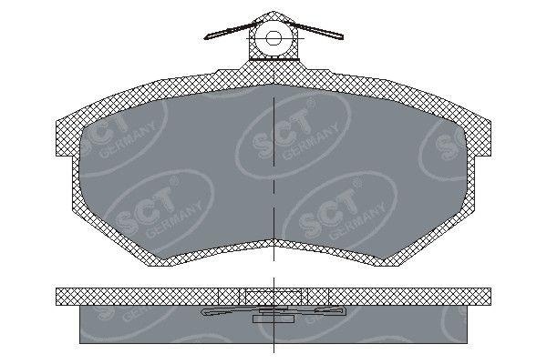 SCT - MANNOL Remblokkenset, schijfrem (SP 176 PR)