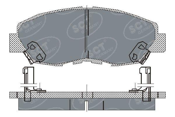 SCT - MANNOL Remblokkenset, schijfrem (SP 180 PR)
