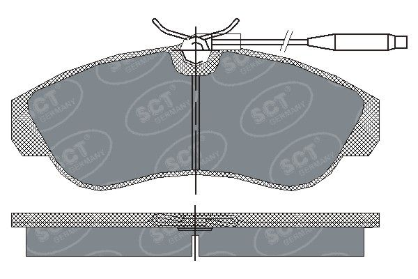 SCT - MANNOL Remblokkenset, schijfrem (SP 183 PR)