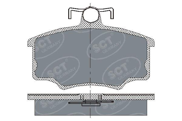 SCT - MANNOL Remblokkenset, schijfrem (SP 186 PR)