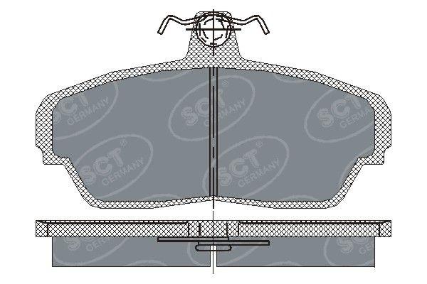 SCT - MANNOL Remblokkenset, schijfrem (SP 187 PR)