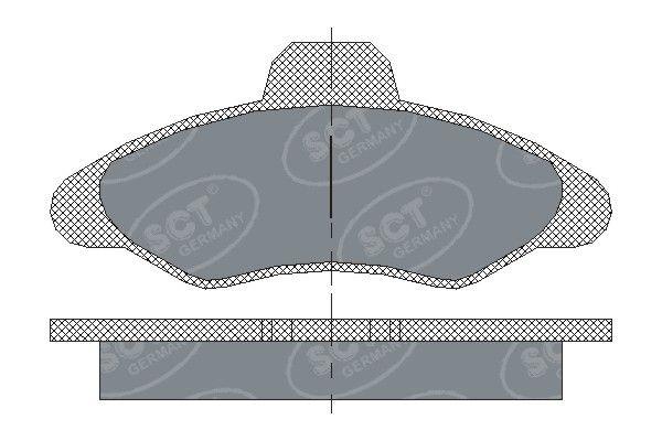 SCT - MANNOL Remblokkenset, schijfrem (SP 188 PR)
