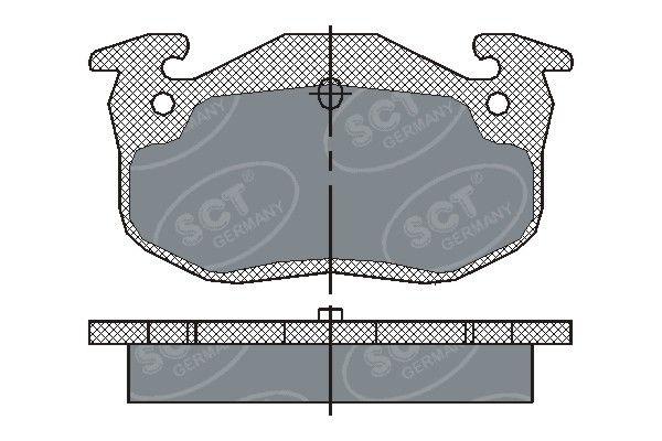 SCT - MANNOL Remblokkenset, schijfrem (SP 190 PR)