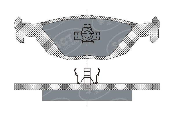 SCT - MANNOL Remblokkenset, schijfrem (SP 194 PR)