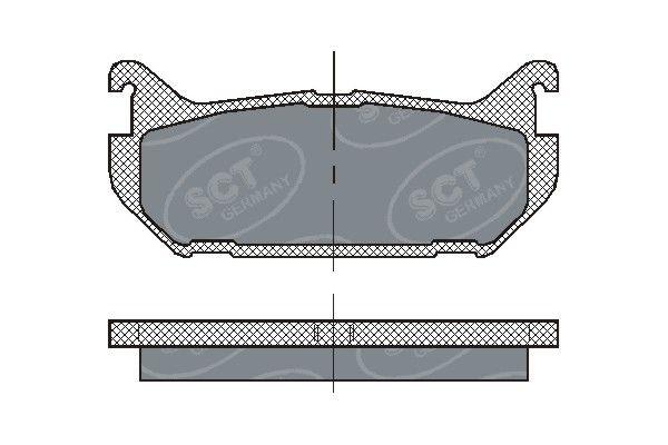 SCT - MANNOL Remblokkenset, schijfrem (SP 197 PR)