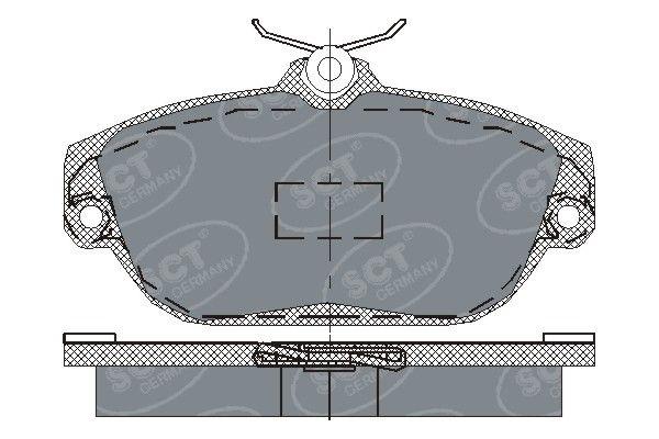 SCT - MANNOL Remblokkenset, schijfrem (SP 201 PR)