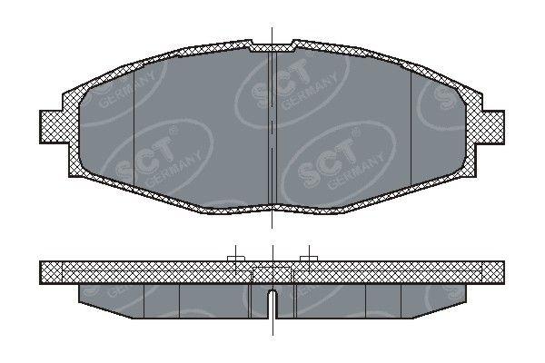 SCT - MANNOL Remblokkenset, schijfrem (SP 213 PR)