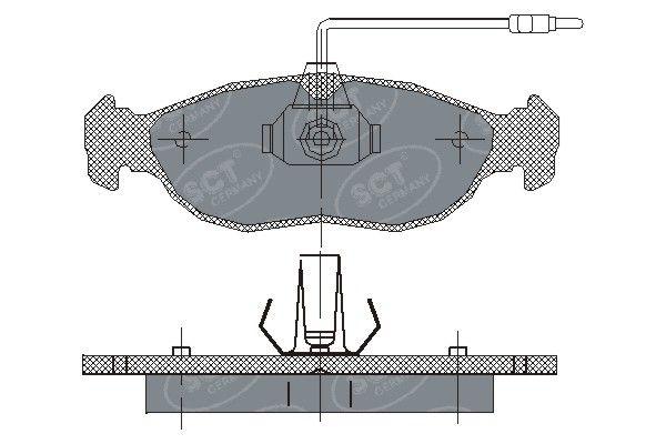 SCT - MANNOL Remblokkenset, schijfrem (SP 214 PR)