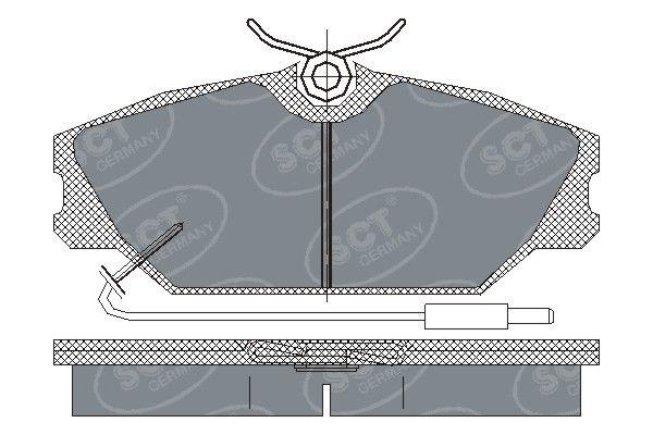 SCT - MANNOL Remblokkenset, schijfrem (SP 215 PR)
