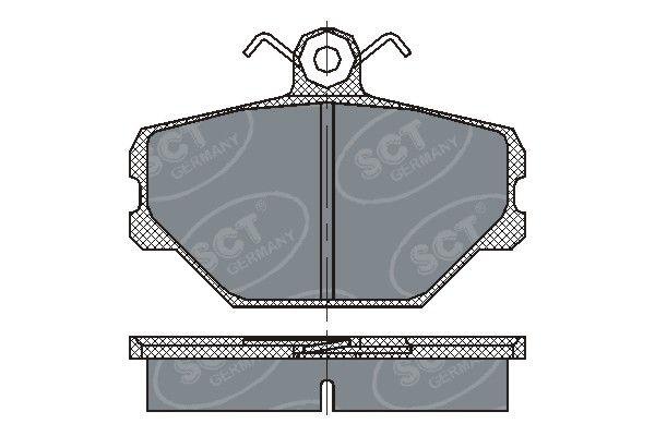 SCT - MANNOL Remblokkenset, schijfrem (SP 217 PR)
