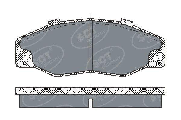SCT - MANNOL Remblokkenset, schijfrem (SP 218 PR)
