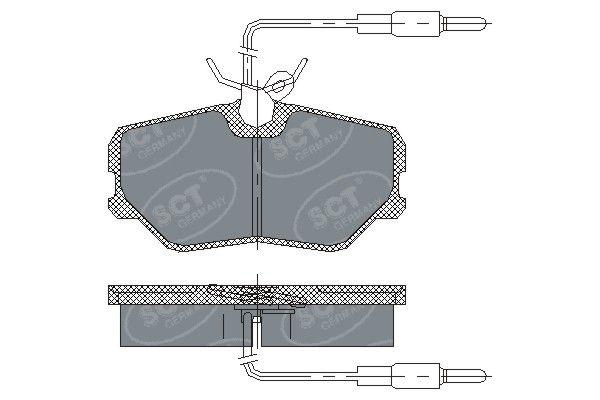 SCT - MANNOL Remblokkenset, schijfrem (SP 221 PR)