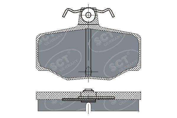 SCT - MANNOL Remblokkenset, schijfrem (SP 224 PR)