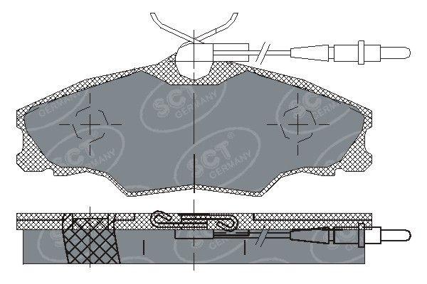 SCT - MANNOL Remblokkenset, schijfrem (SP 228 PR)