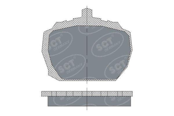 SCT - MANNOL Remblokkenset, schijfrem (SP 231 PR)