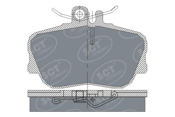 SCT - MANNOL Remblokkenset, schijfrem (SP 234 PR)