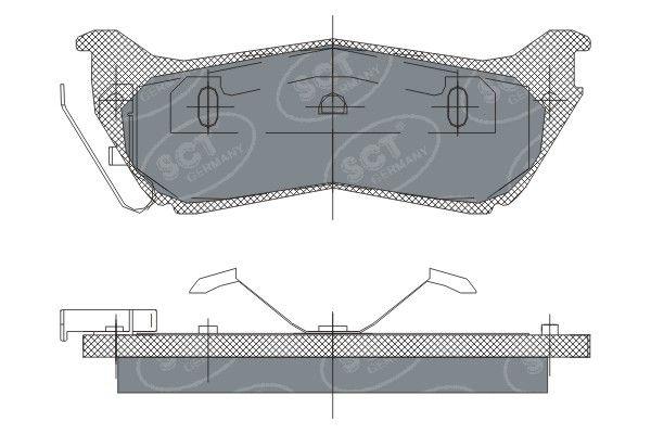 SCT - MANNOL Remblokkenset, schijfrem (SP 245 PR)