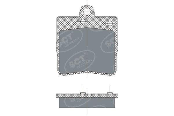 SCT - MANNOL Remblokkenset, schijfrem (SP 247 PR)