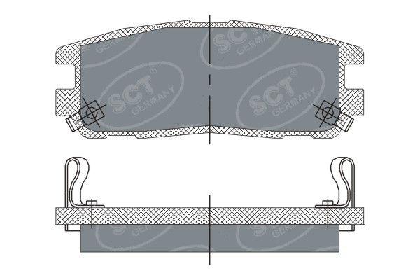 SCT - MANNOL Remblokkenset, schijfrem (SP 248 PR)