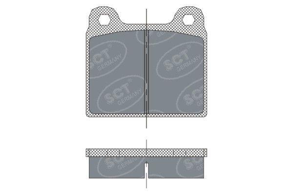 SCT - MANNOL Remblokkenset, schijfrem (SP 251 PR)