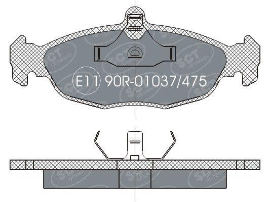 SCT - MANNOL Remblokkenset, schijfrem (SP 252 PR)