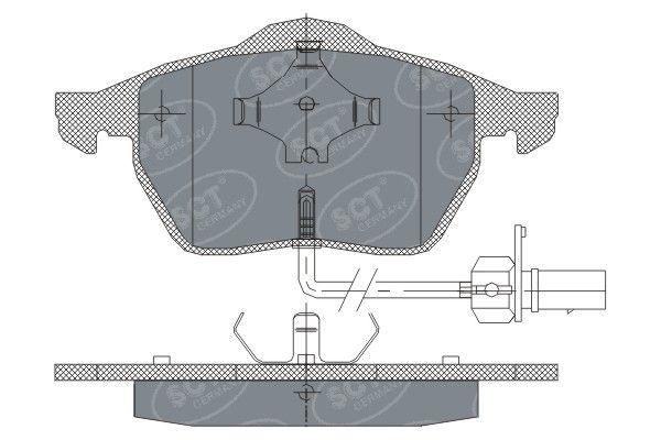 SCT - MANNOL Remblokkenset, schijfrem (SP 259 PR)