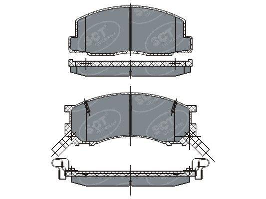 SCT - MANNOL Remblokkenset, schijfrem (SP 262 PR)