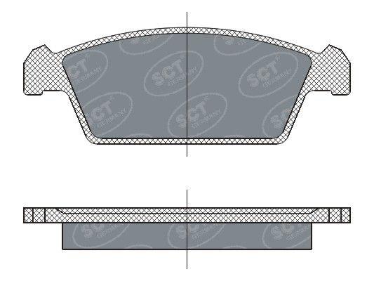 SCT - MANNOL Remblokkenset, schijfrem (SP 264 PR)