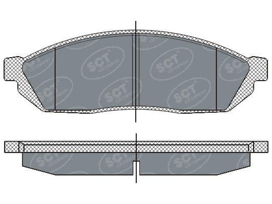 SCT - MANNOL Remblokkenset, schijfrem (SP 265 PR)