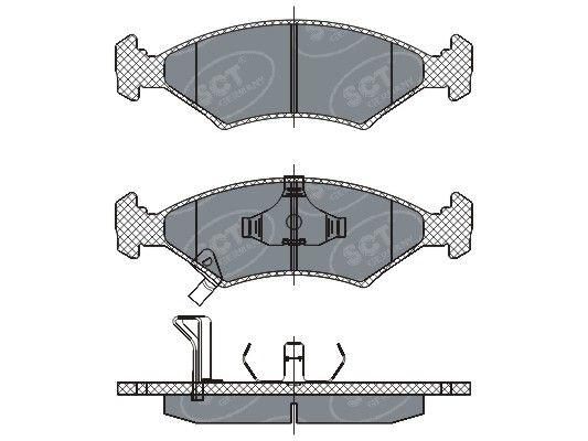 SCT - MANNOL Remblokkenset, schijfrem (SP 266 PR)
