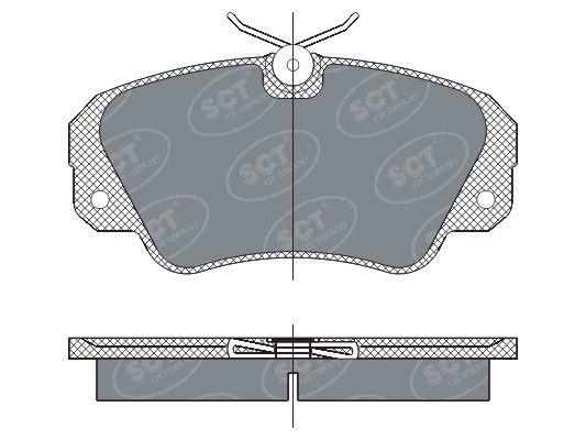 SCT - MANNOL Remblokkenset, schijfrem (SP 287 PR)