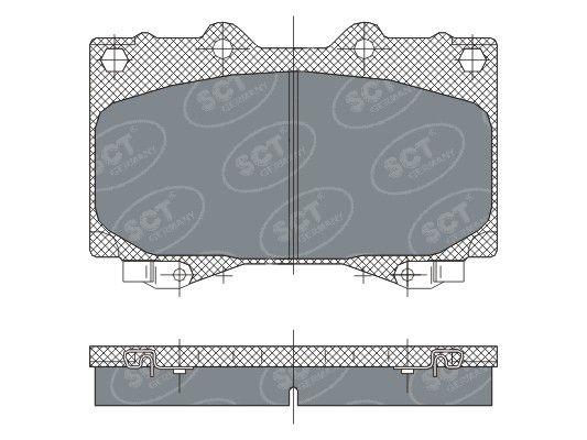 SCT - MANNOL Remblokkenset, schijfrem (SP 270 PR)