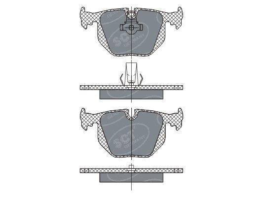 SCT - MANNOL Remblokkenset, schijfrem (SP 271 PR)