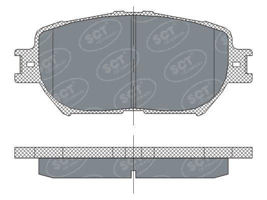 SCT - MANNOL Remblokkenset, schijfrem (SP 275 PR)