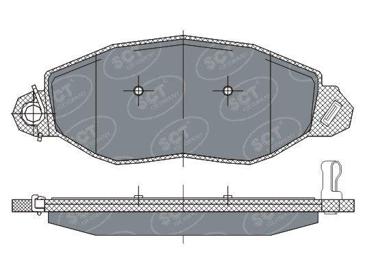 SCT - MANNOL Remblokkenset, schijfrem (SP 281 PR)