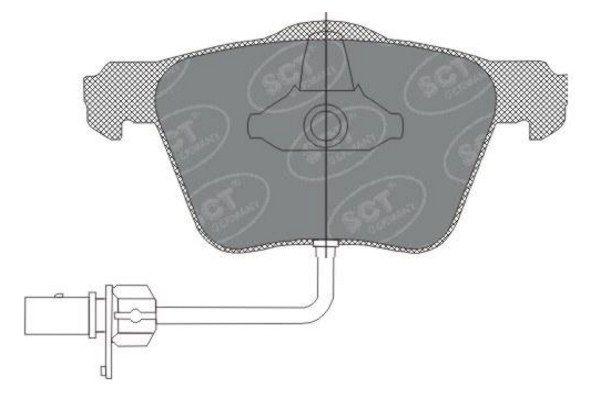 SCT - MANNOL Remblokkenset, schijfrem (SP 282 PR)