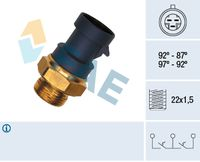 FAE Temperatuurschakelaar, radiateurventilator (37910)
